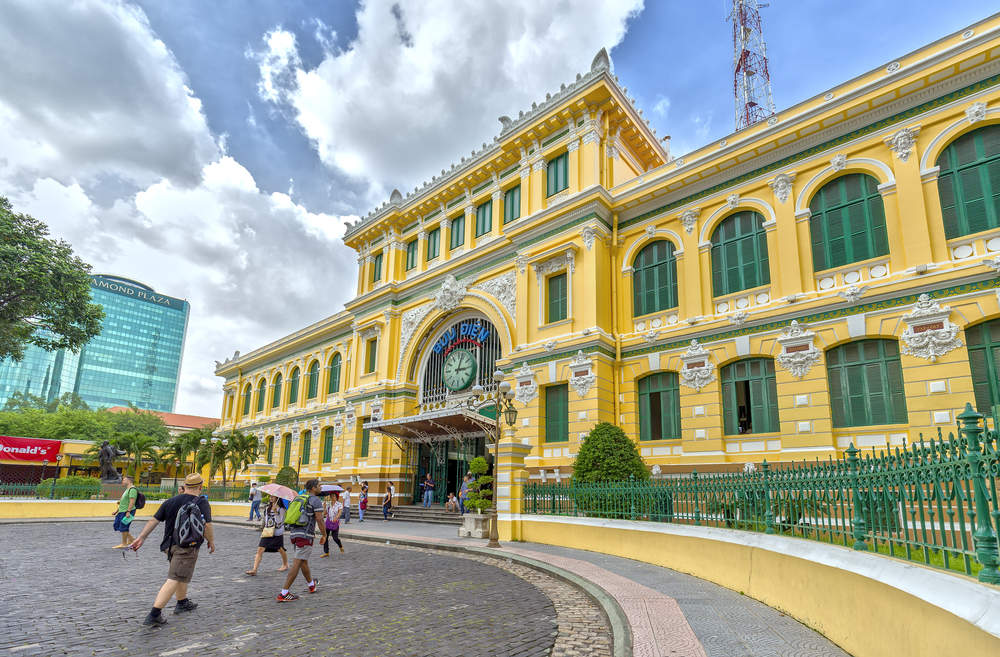 The Central Post Office in Ho Chi Minh