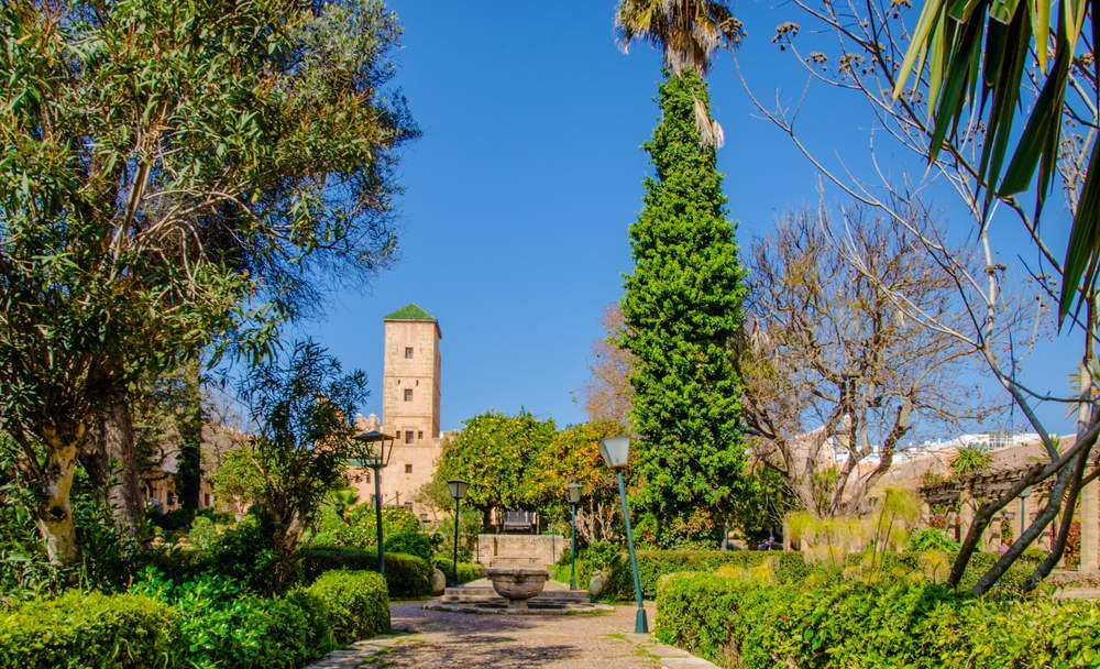 Andalusian Gardens in The Kasbah of the Udayas in Rabat