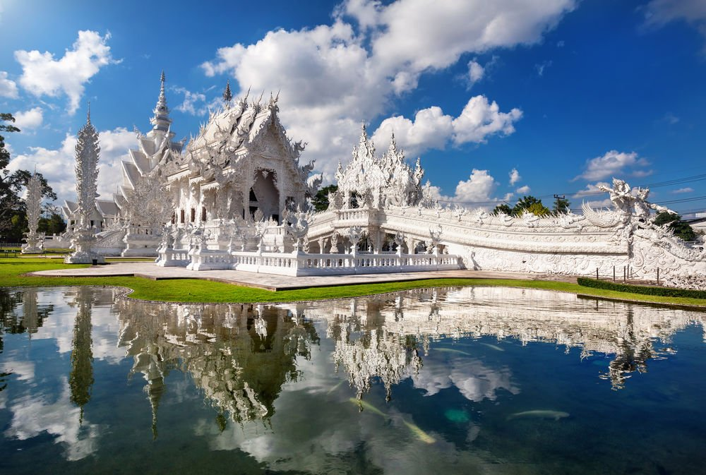 Wat Rong Khun places to visit in Thailand