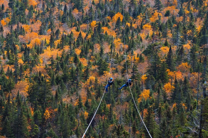 Playing Ziping in Stowe, Vermont
