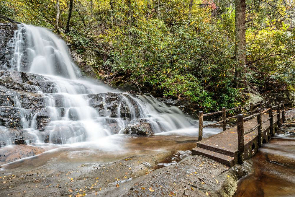 Great Smoky Mountains National Park - Laurel Falls, Gatlinburg Pigeon Forge, TN Memorial Day Vacation Ideas