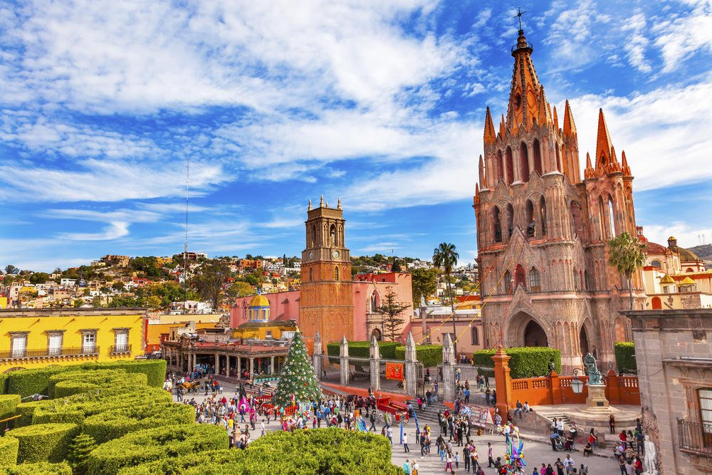 Parroquia Archangel church and Rafael Church in San Miguel de Allende, Mexico Beautiful Cities In The World