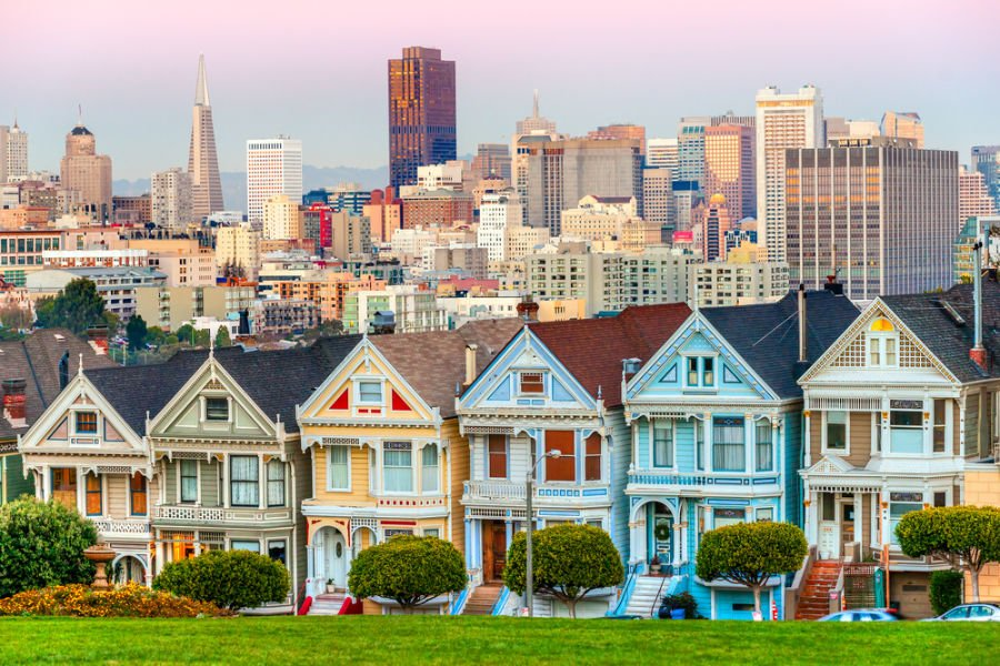 The Painted Ladies in San Francisco, California, USA