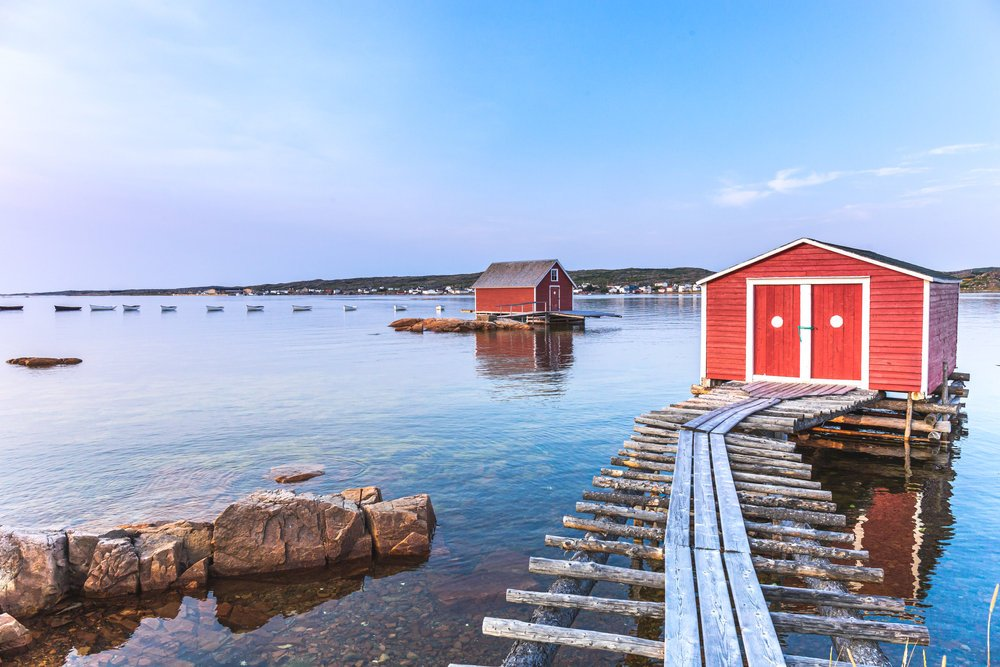 The fishing village of Tilting in Fogo Island, Newfoundland and Labrador