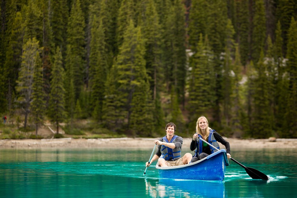 Canoeing in the lake