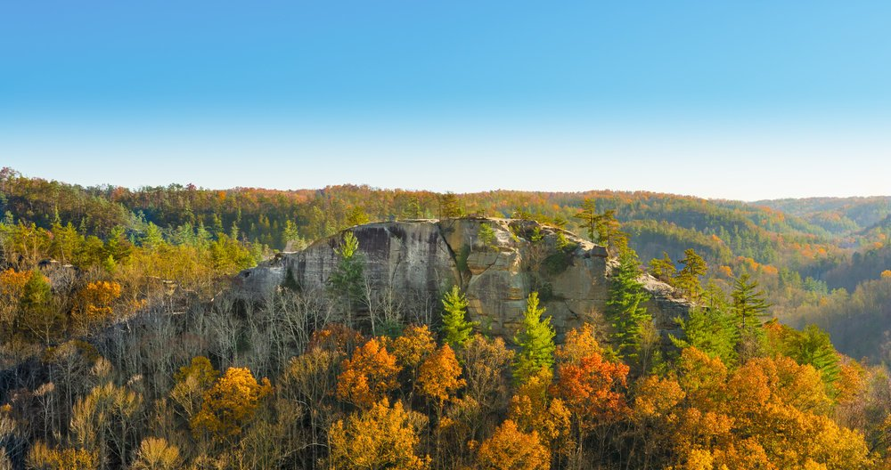Half Moon Rock at Red River Gorge