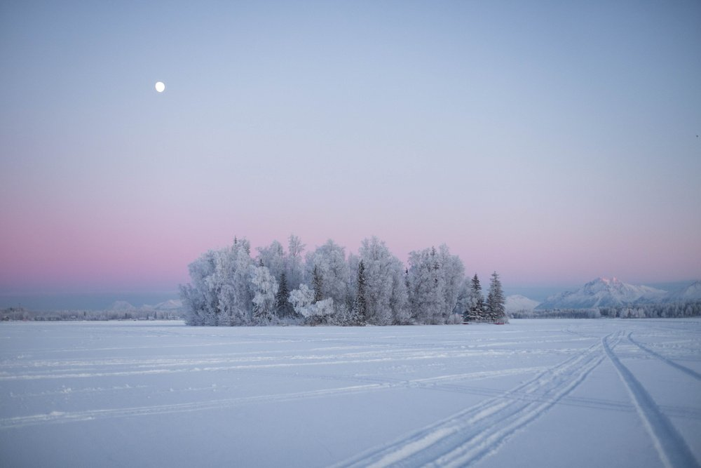 Alaska covered by snow in January Best Time to Visit Alaska