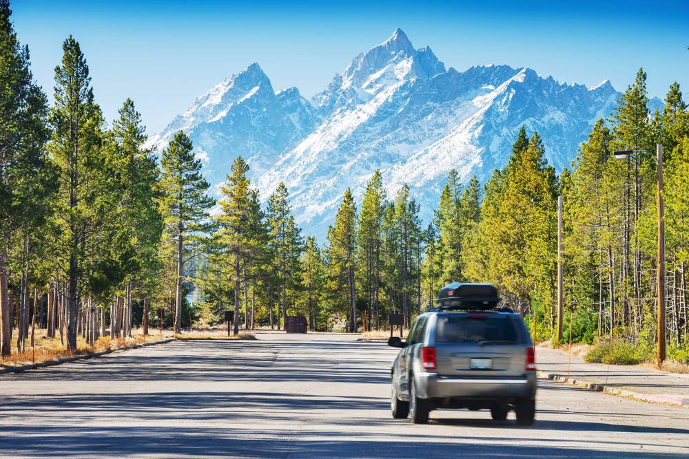 Road to the Grand Teton National Park