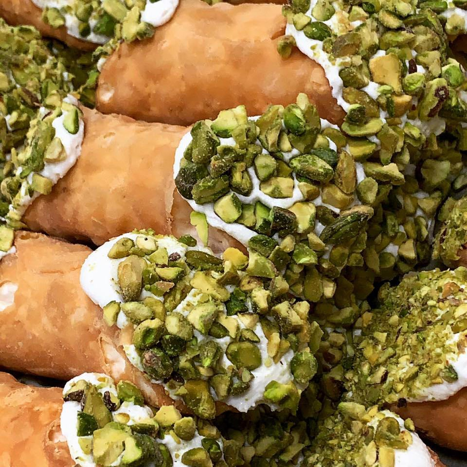 Pistachio Cannoli at Mike's Pastry Inc | Photo by  Mike's Pastry Inc's Facebook